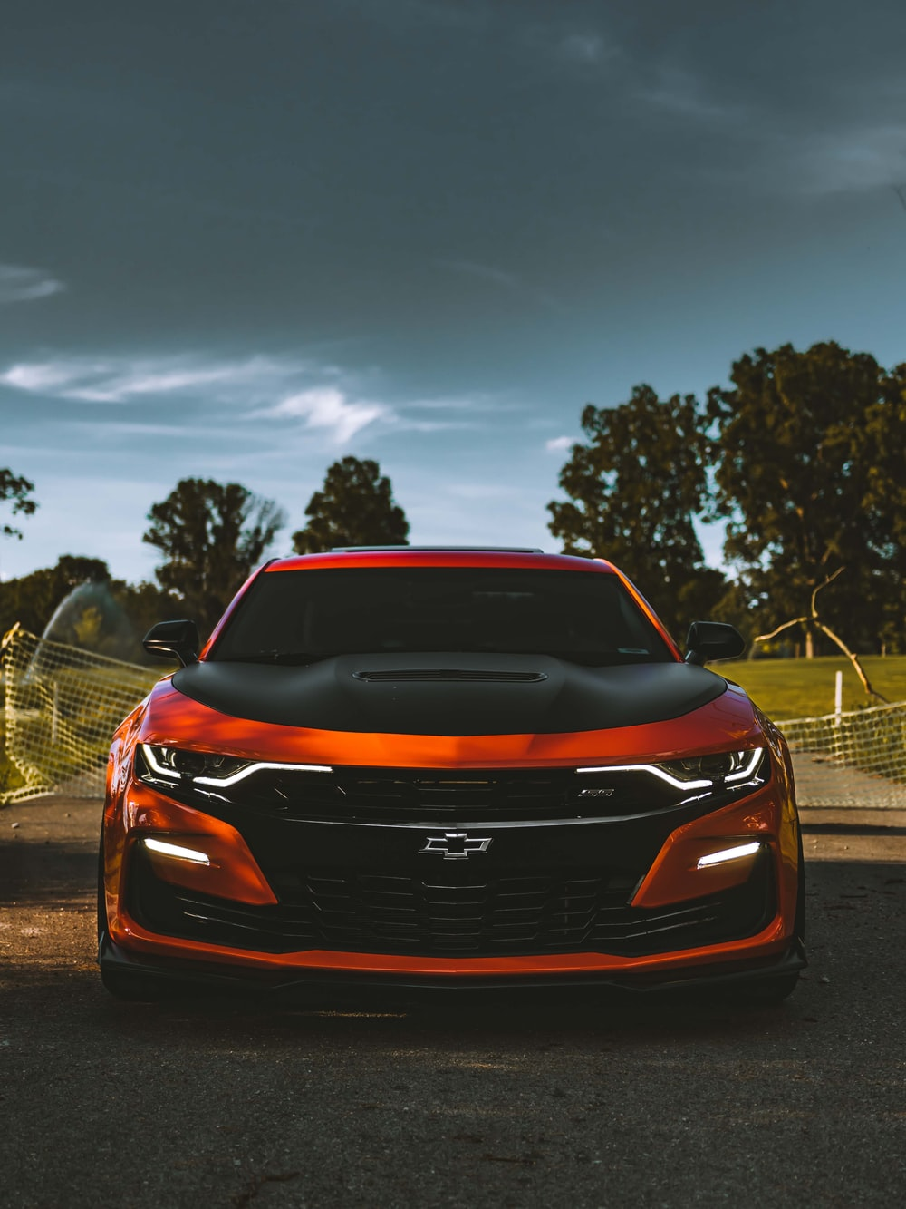orange and black car