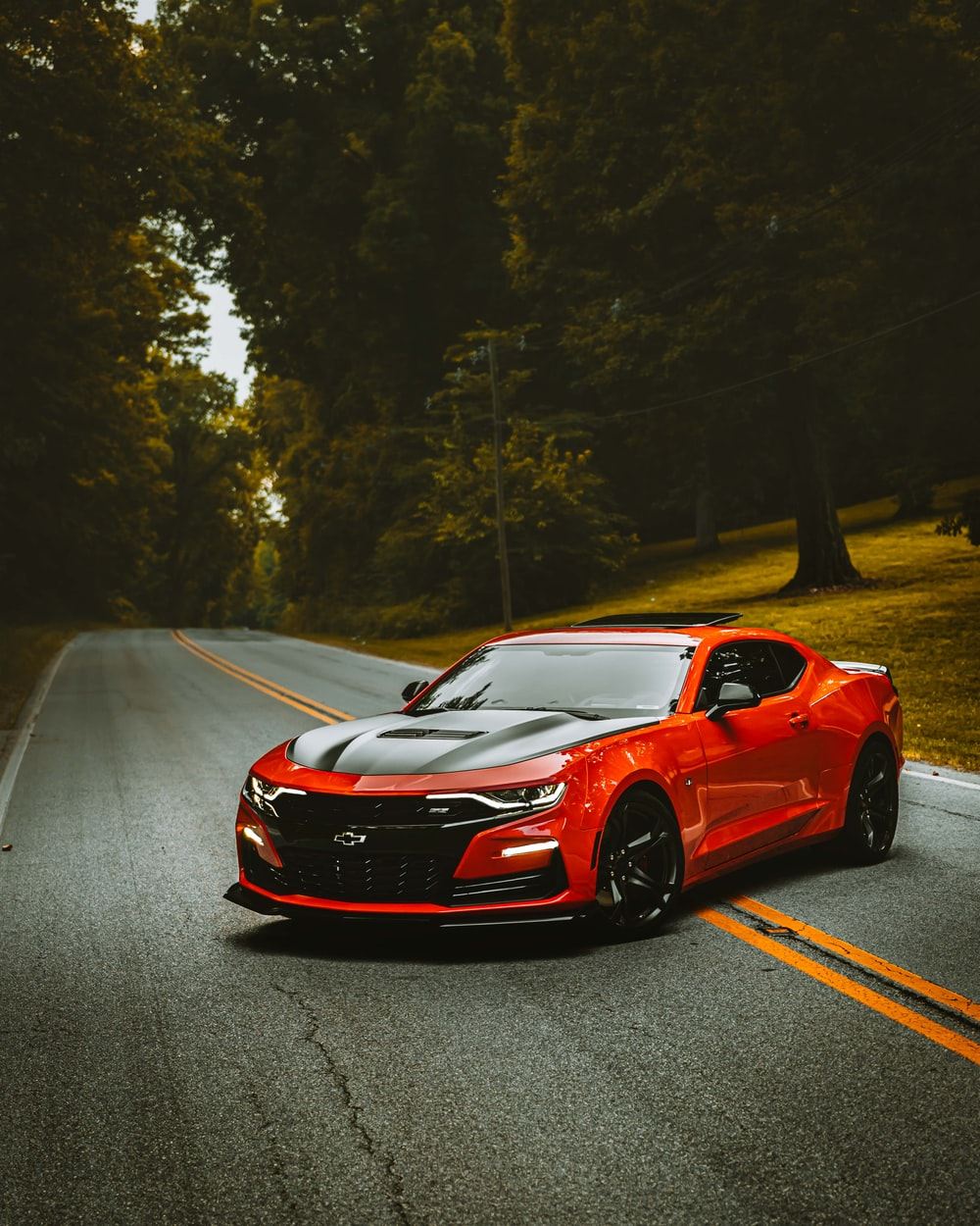 red and black car