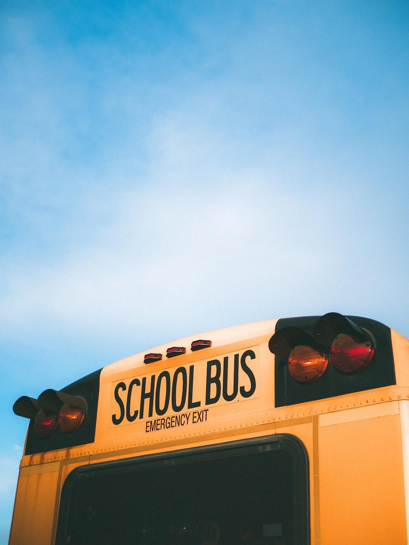 yellow and black School bus