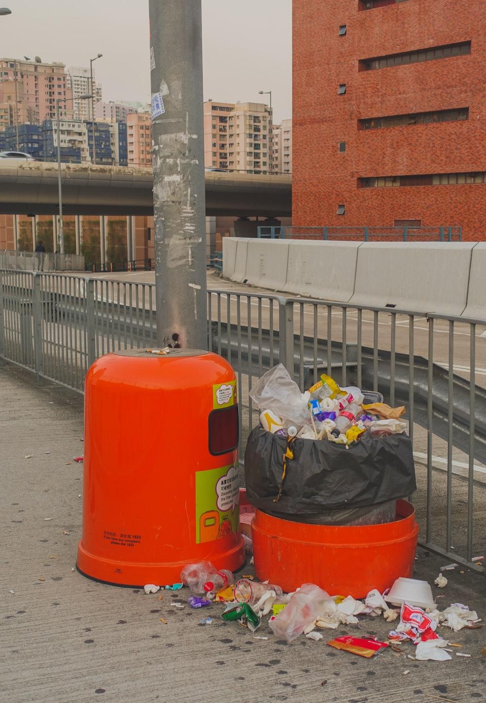 orange plastic container
