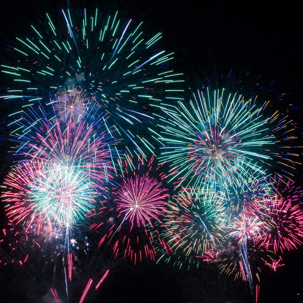 photography of fireworks during nighttime