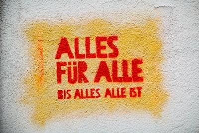 Urban street art graffiti on the wall: