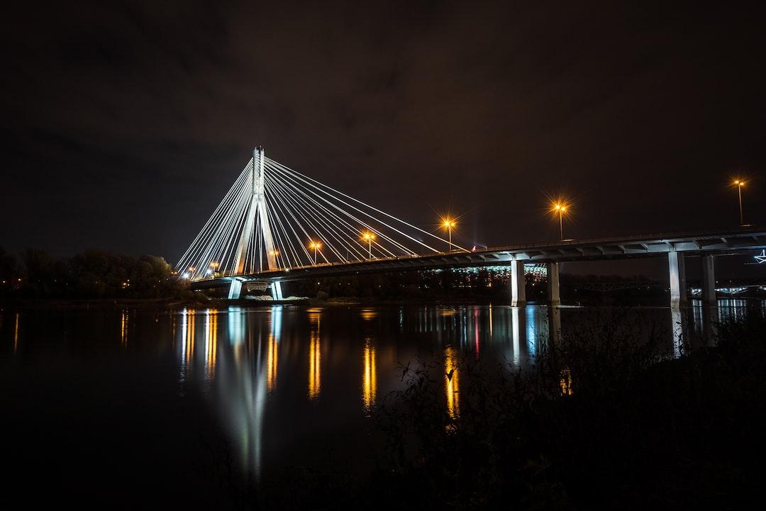Most Swietokrzyska above the Vistula river.