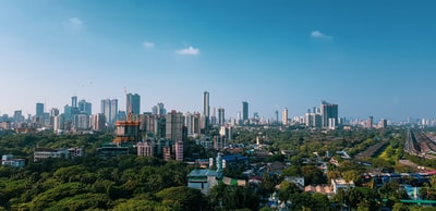 high-rise buildings during daytime mumbai zoom background