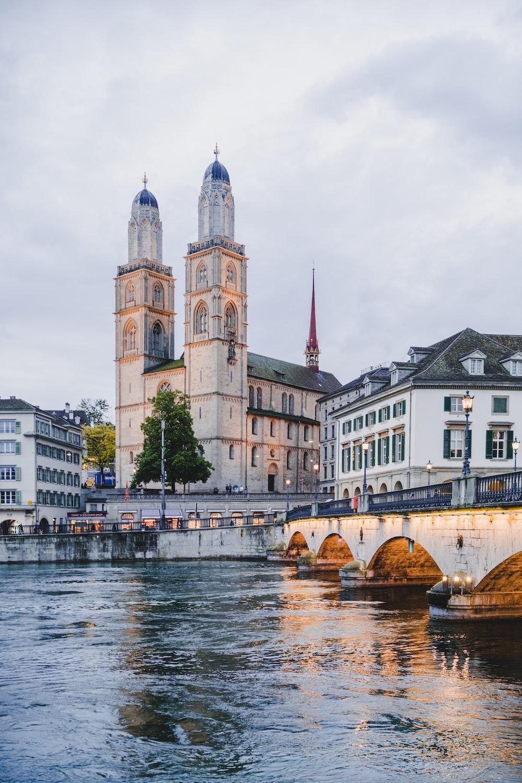 Zurich in Switzerland under white sky during daytime