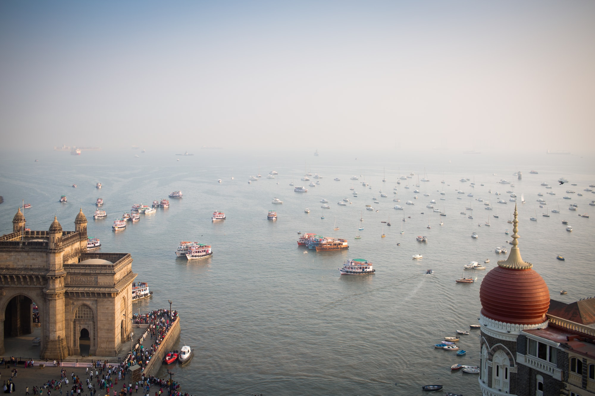 The view from a room at the Taj Mahal Towers hotel in Mumbai