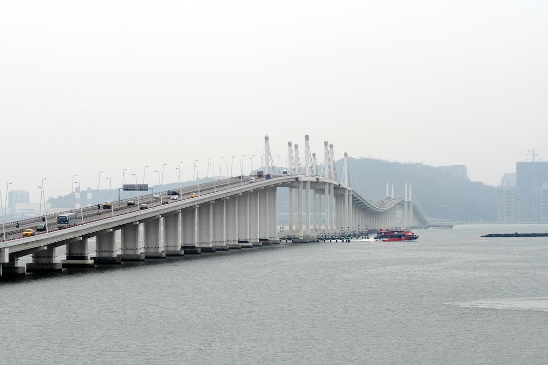 Friendship Bridge and JetFoil, Macau, China