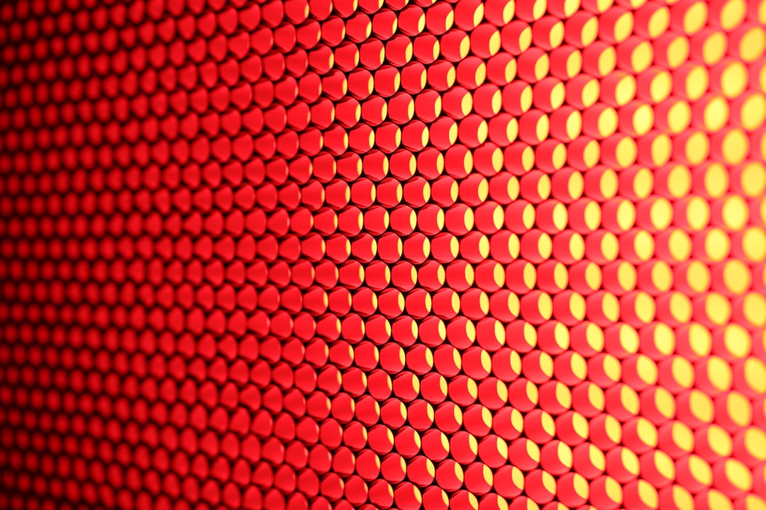 Texture. Professional led panel for tv broadcasting, producing beautiful red light.