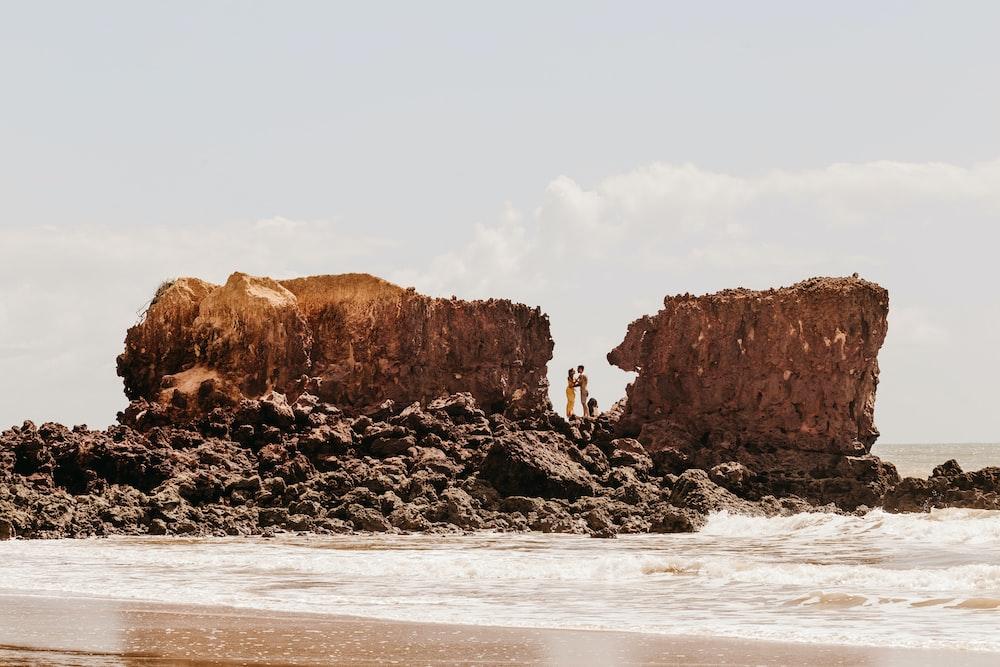 coastal stacks during daytime