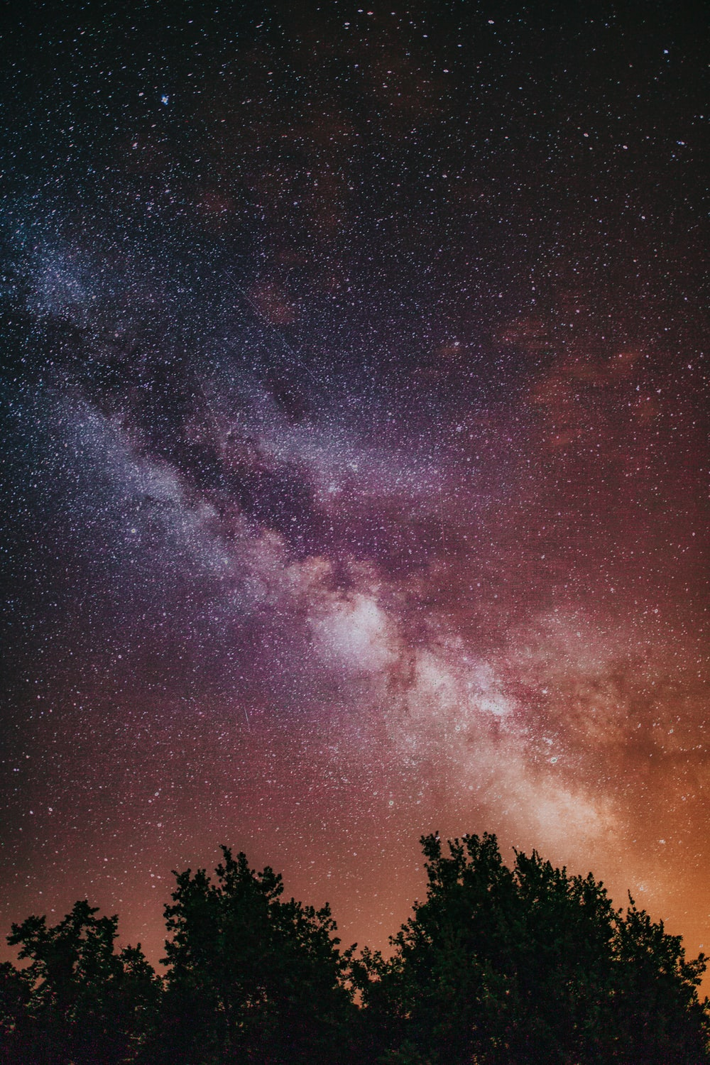 long-exposure photography of milky way