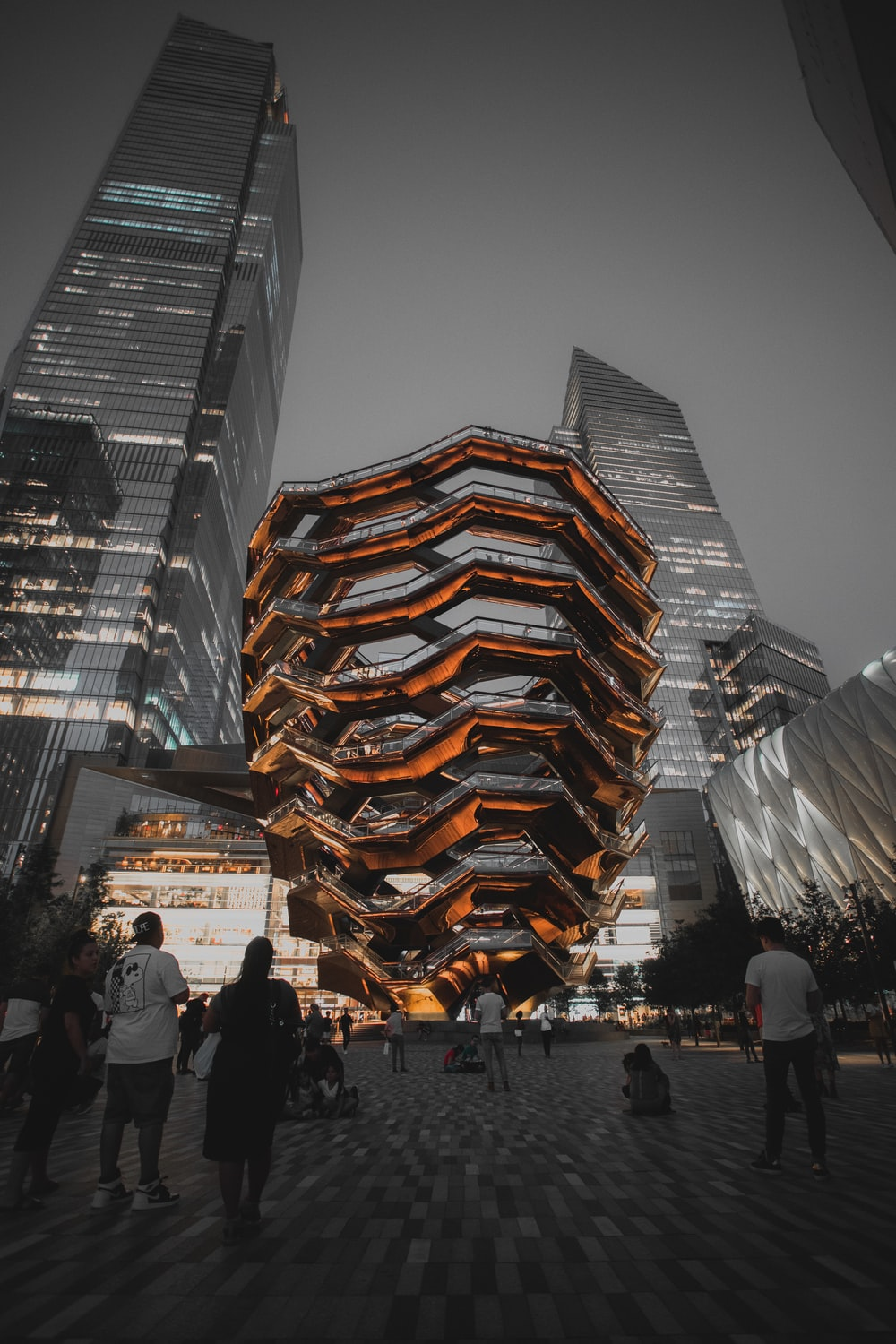 Vessel structure and landmark at New York City