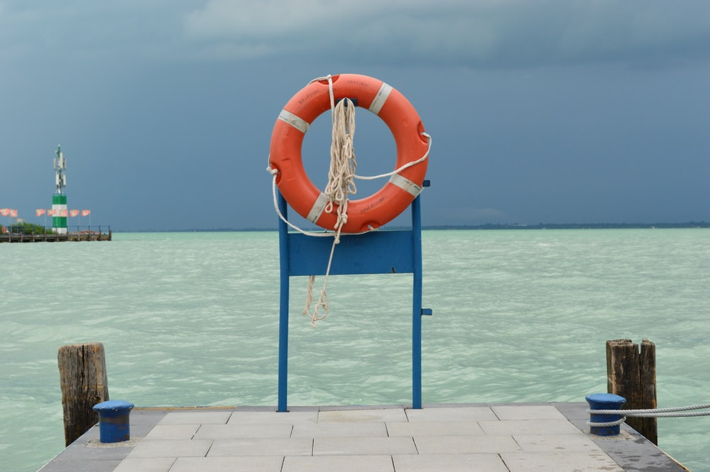 orange life buoy