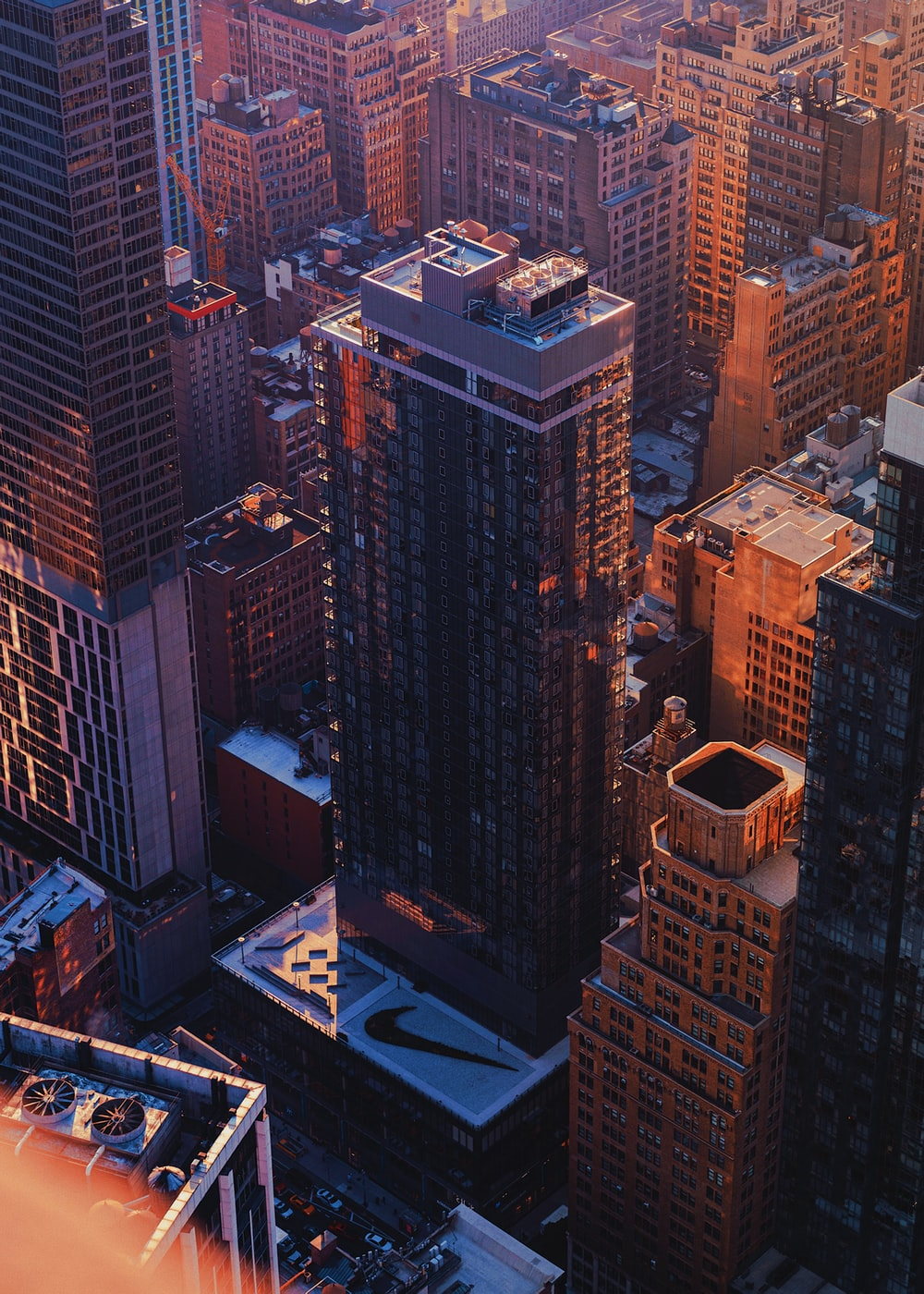 aerial photography of brown buildings during daytime