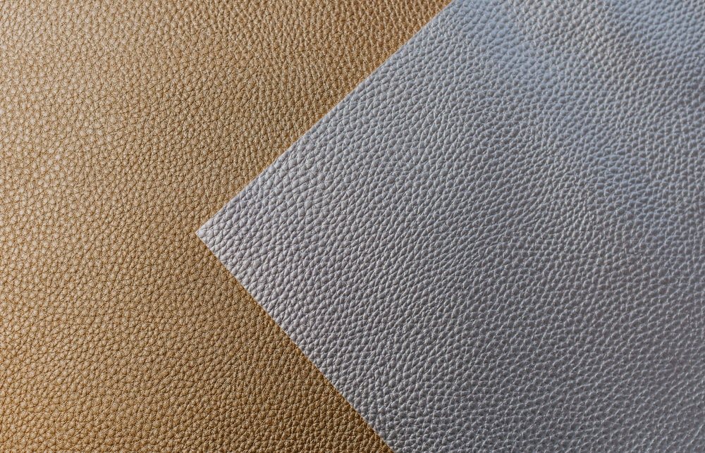 brown and gray leather textile