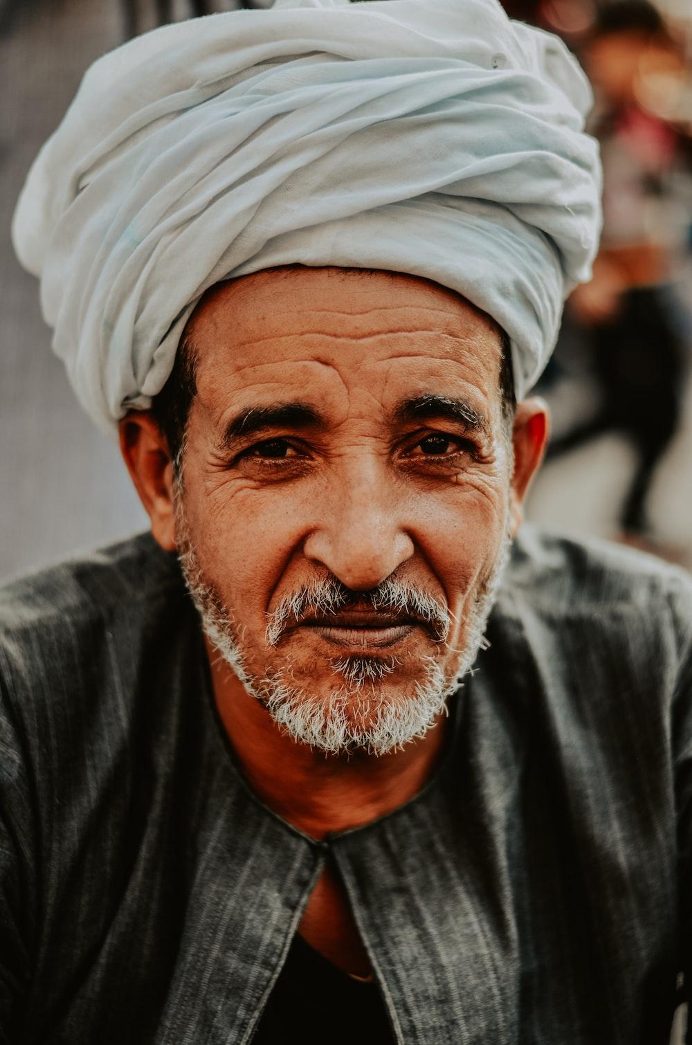 man wearing white turban