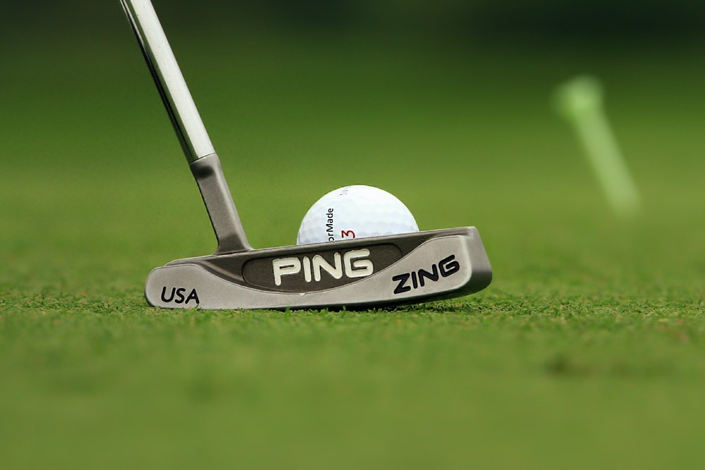 grey Pink golf putter