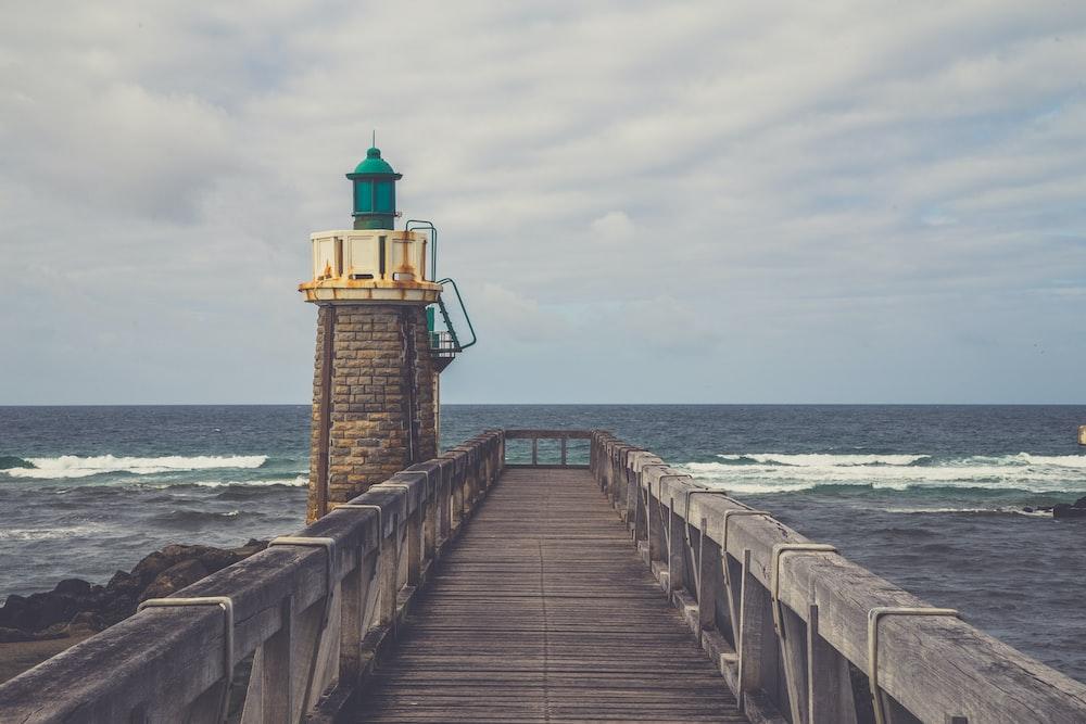 lighthouse near sea