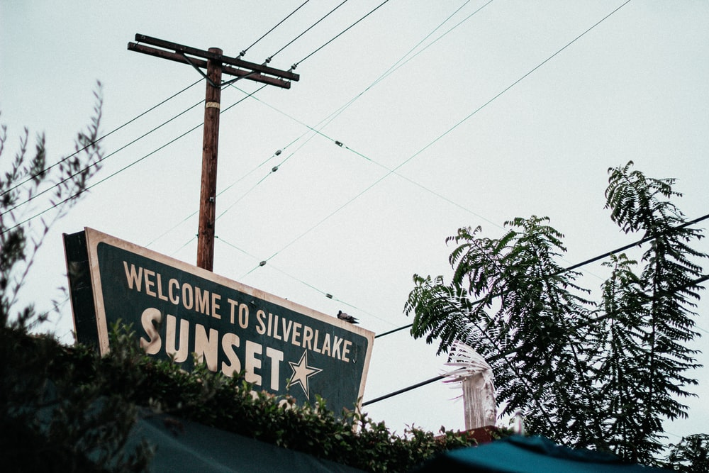 Welcome to the Silverlake Sunset signage