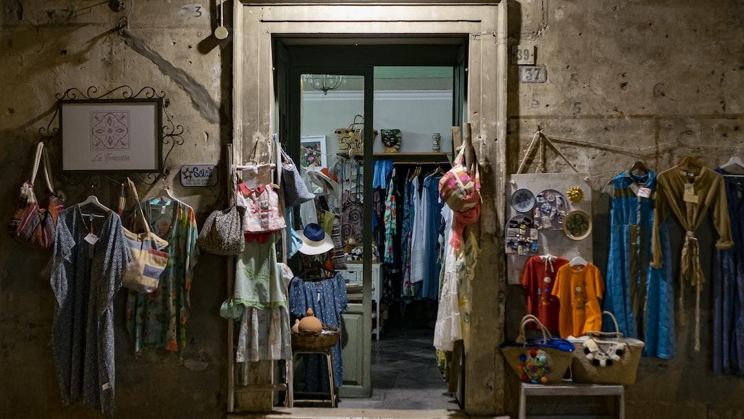 Scicli, a little local dress shop.