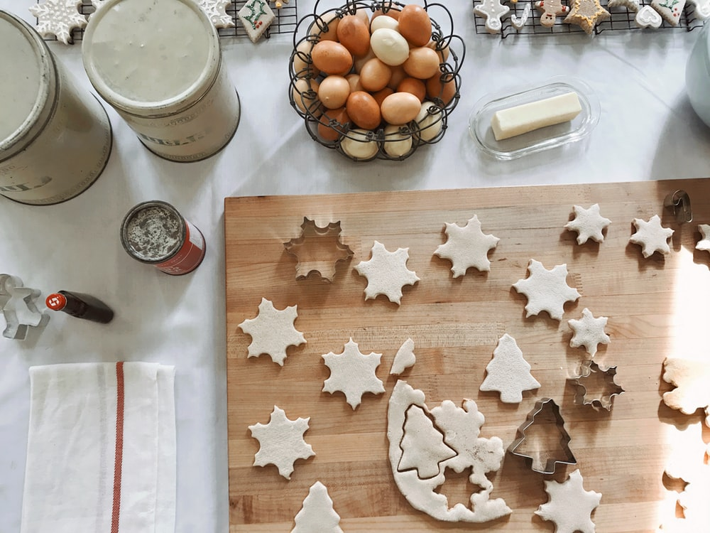 gray stainless steel Christmas tree and star designed cookie cuttes