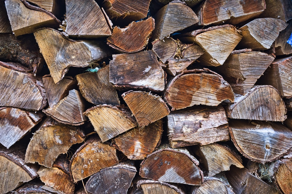brown firewood lot