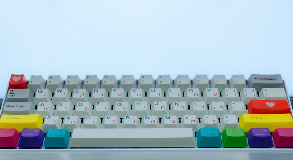white and multicolored computer keyboard