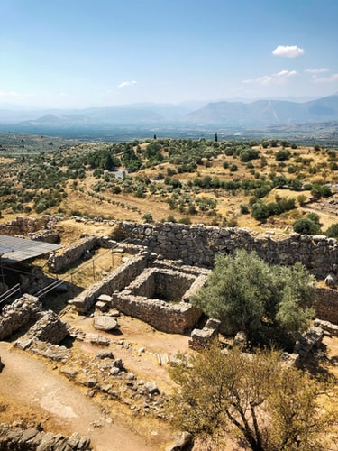 Ruins of Mycenae, near Athens, Greece