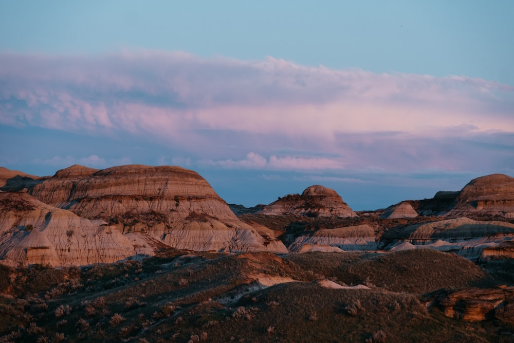 wide angle photo of mountain