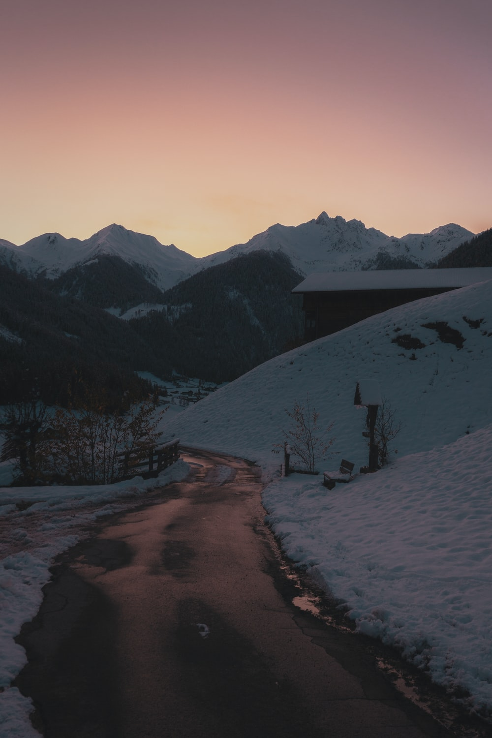 landscape photography of mountain ranges \