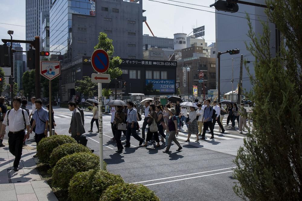 people walking across the street during daytime