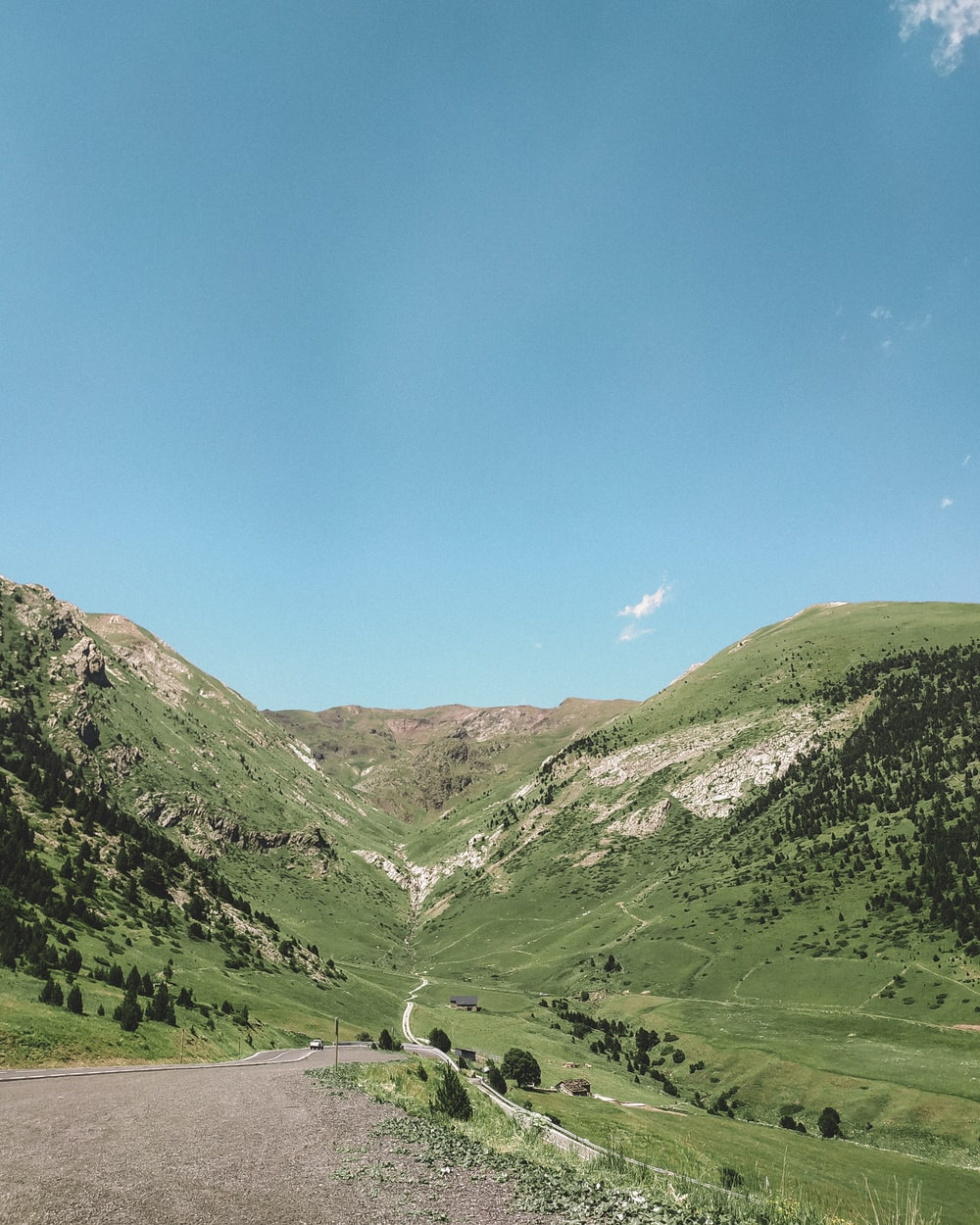 high angle photo of mountain