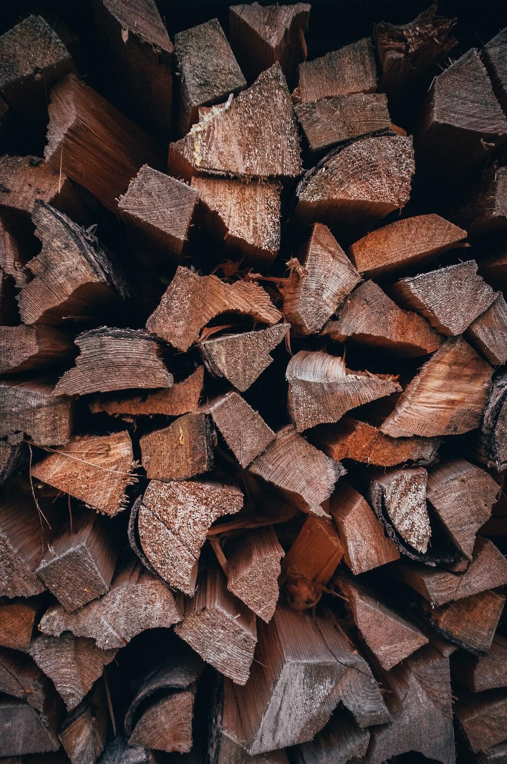 chopped fire woods