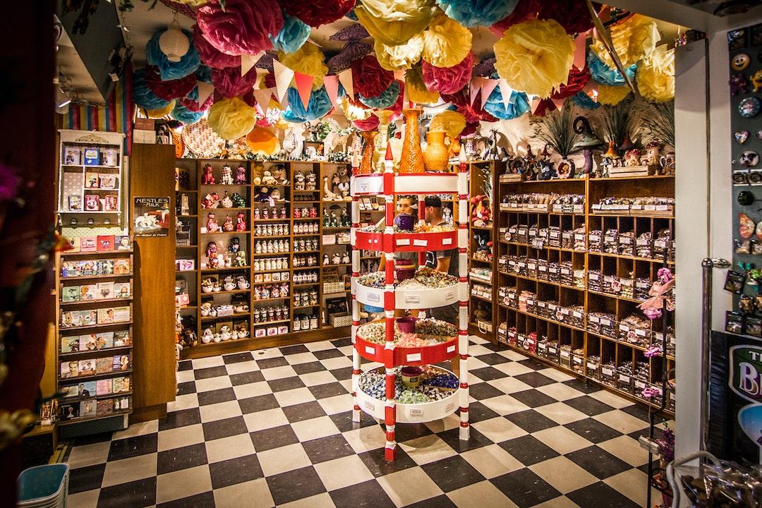 lolly shop, checkerboard floor, Beechworth, Vic
