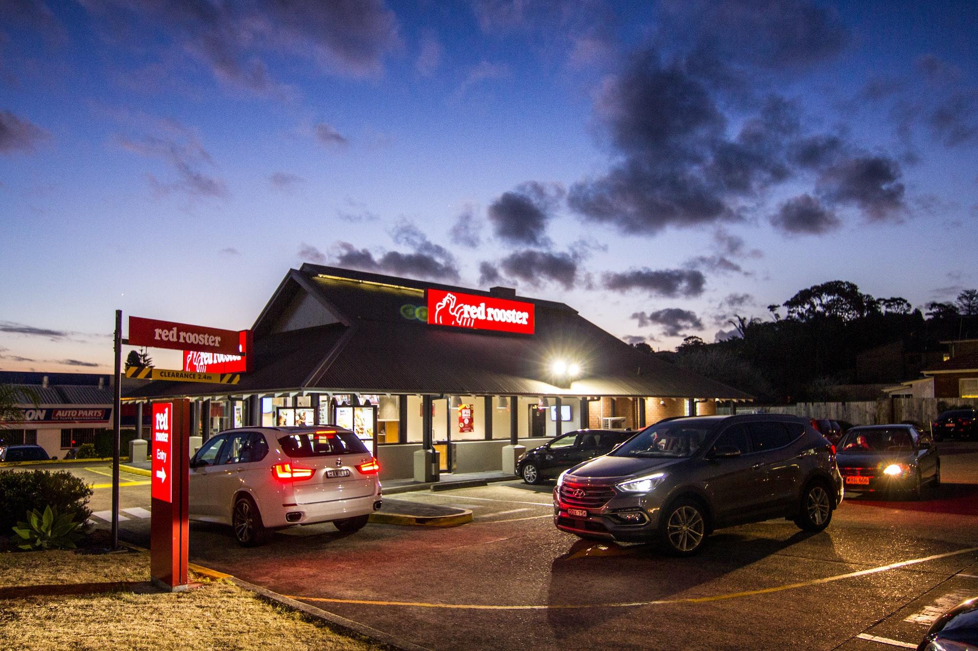 Red rooster, drive-thru, Carlton, NSW