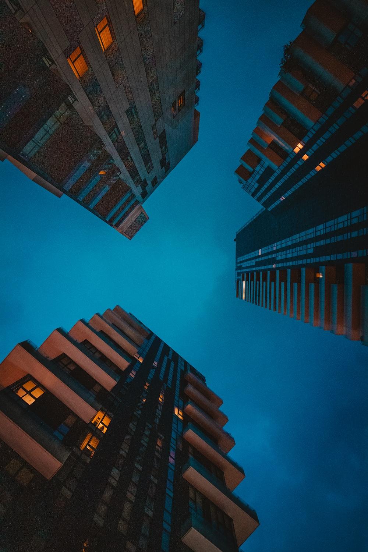 assorted-color buildings under blue sky