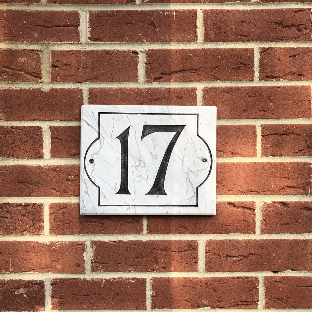 17 house sign