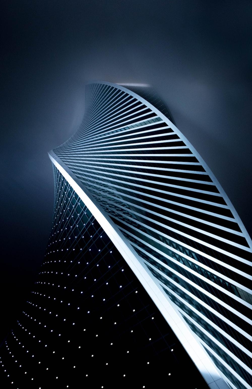 gray spiral building
