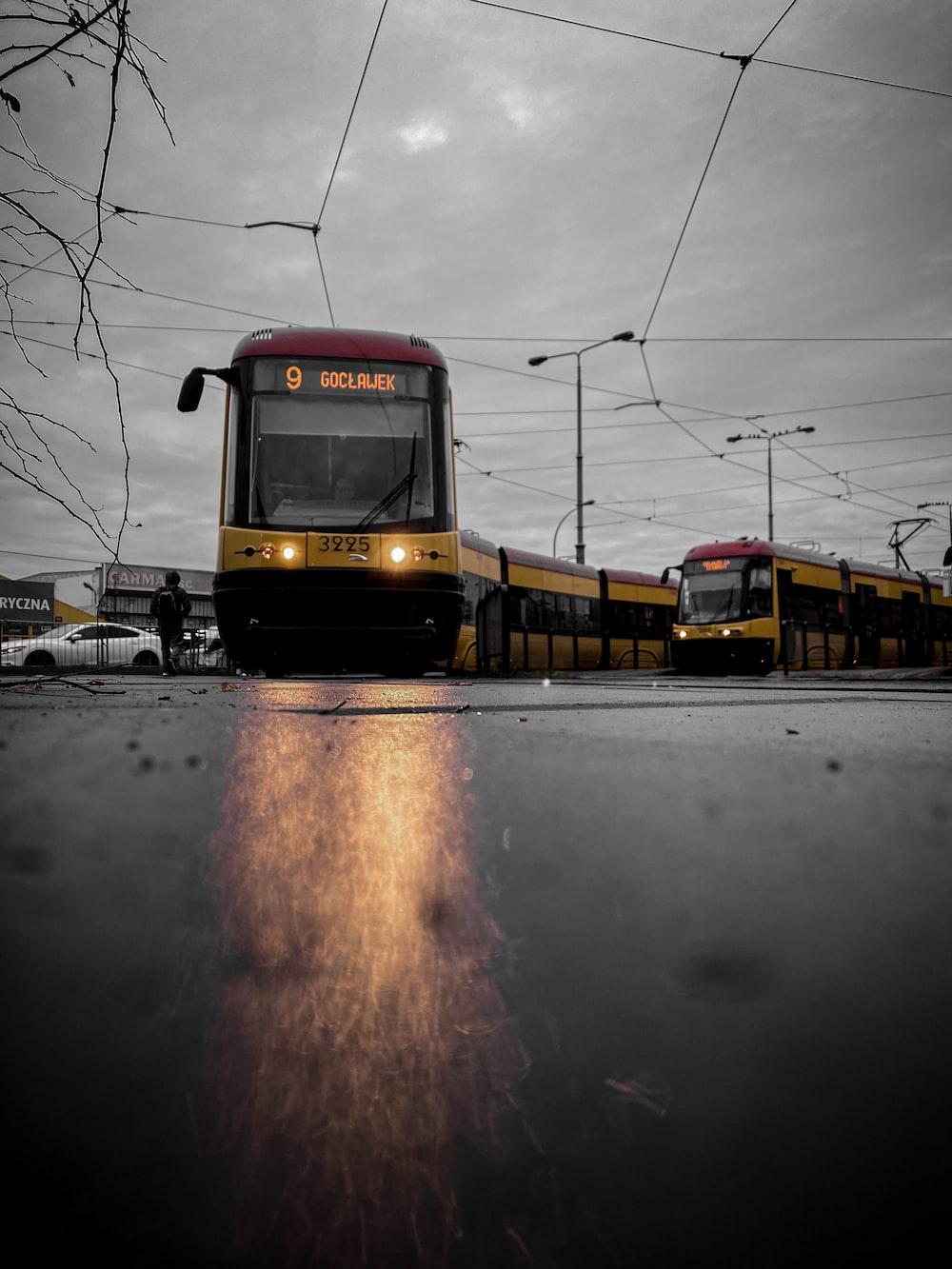yellow and black train