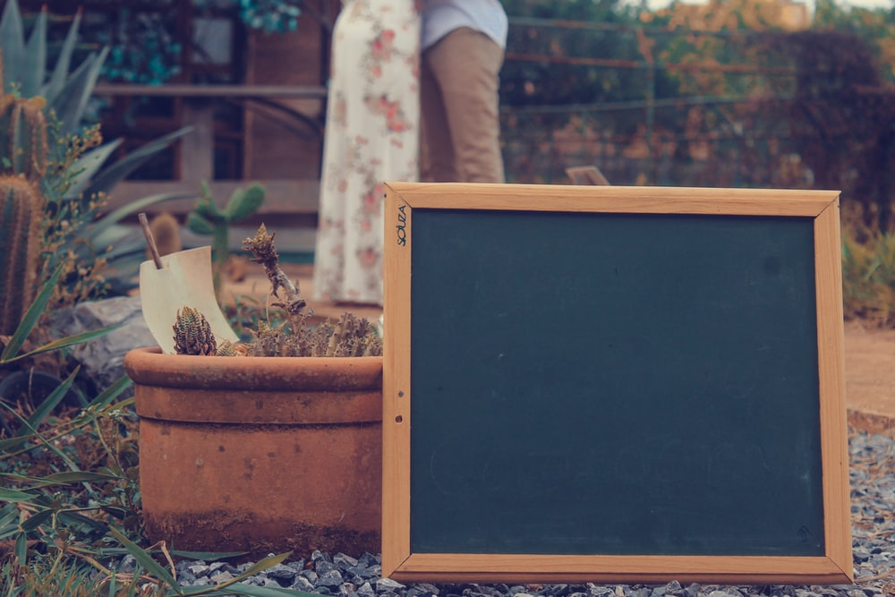 brown wooden frame board