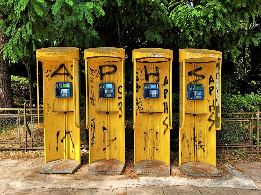 Phone boots in Athens.