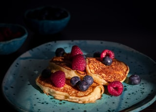 pancake with berries on plate
