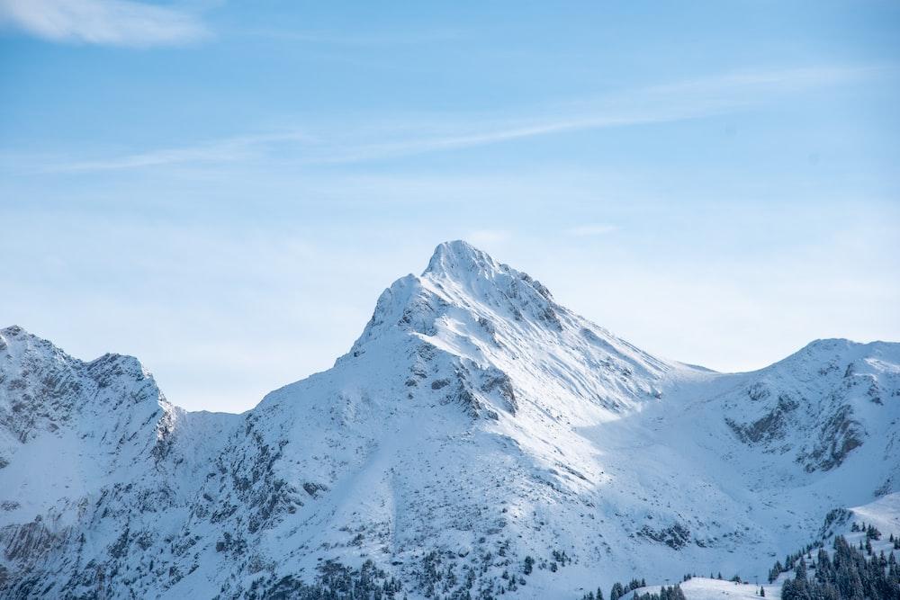 white and gray mountains