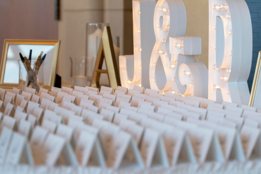 white free standing letters