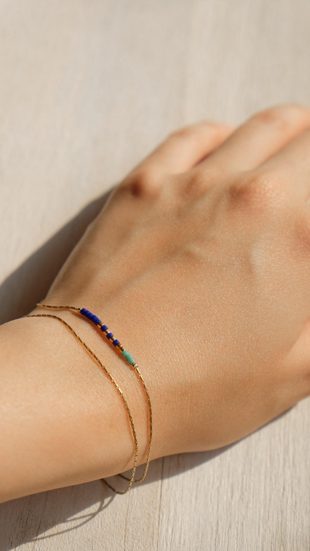 gold-colored bracelet