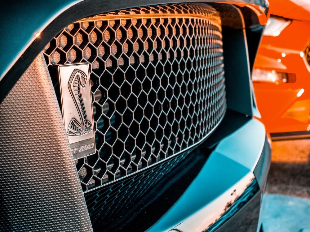 black vehicle grille