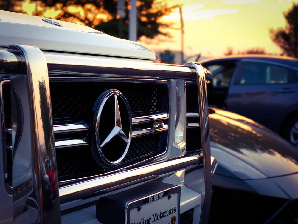 parked silver Mercedes-Benz vehicle