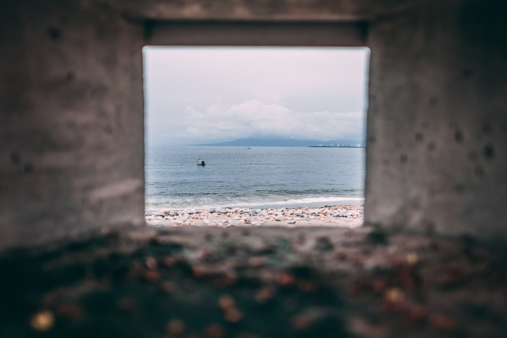 shore near body of water