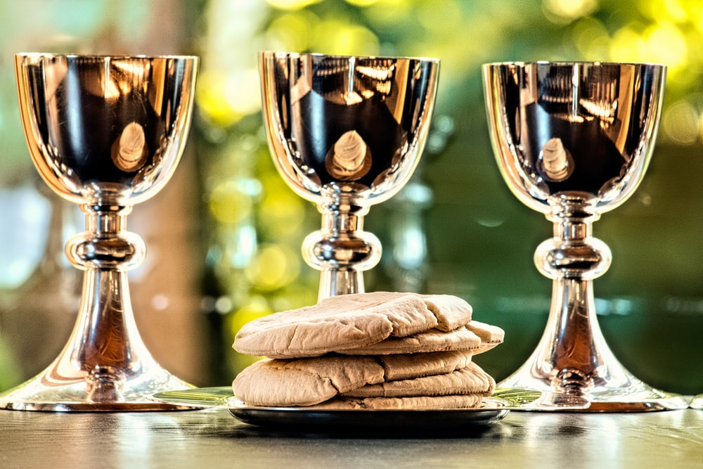 grey stainless steel chalices