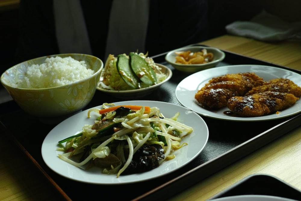 veggies dish on white ceramic plate