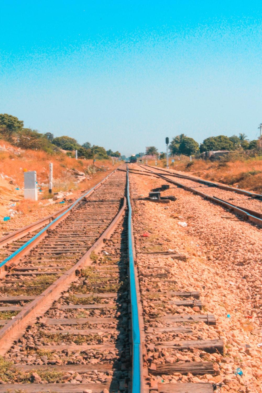 photo of train rail